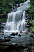 Ken Beatty Posters - Ganoga Falls - Ricketts Glen Poster by Ken Beatty