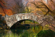 Gapstow Bridge Framed Prints - Gapstow Bridge in Central Park Framed Print by GCannon