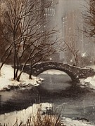 Gapstow Bridge Framed Prints - Gapstow Bridge NYC Framed Print by Tom Shropshire