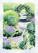Garden Scene Paintings - Garden 1 by Malena Somoza