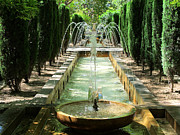 Art Photography - Garden and Fountain in...