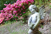 Religious Artist Art - Garden Angel by Laura Sapko