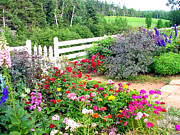 Zelma Hensel Prints - Garden at Green Gables Print by Zelma Hensel