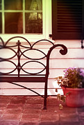 Clapboard House Prints - Garden Bench Print by Jill Battaglia