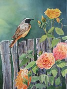Wildlife Celebration Paintings - Garden-Bird by Stephanie Zobrist