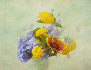 Blue Flowers Photos - Garden Bouquet by Kim Hojnacki