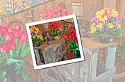 Shed Digital Art Metal Prints - Garden Cart Out To Lunch Metal Print by Valerie Garner