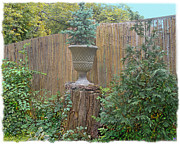 Bamboo Fence Prints - Garden Decor 2 Print by Muriel Levison Goodwin