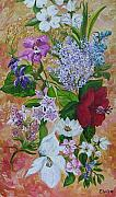 Party Paintings - Garden Delight by Eloise Schneider