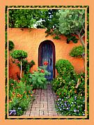 Old Door Framed Prints - Garden Delights Mesilla Framed Print by Kurt Van Wagner