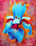 Contemporary Flower Art Prints - Garden Fiesta Print by Moon Stumpp