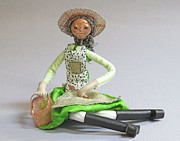 Basket Sculptures - Garden Girl II by Lynn Wartski