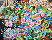 Impressionism Acrylic Prints Art - Garden Glory by Esther Newman-Cohen