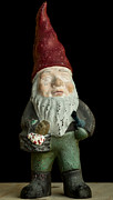 Cast Iron Framed Prints - Garden Gnome Framed Print by Edward Fielding