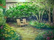 Garden In Cambria Print by Don Felich