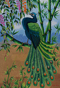 Pride Tapestries - Textiles Posters - Garden Jewel 1 hand embroidery Poster by To-Tam Gerwe