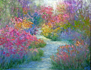 Garden Pastels Originals - Garden Muse by Christine Bass