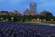 New England Acrylic Prints - Garden of American Flags in the Boston Common by Juergen Roth