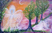 Visionary Art Painting Prints - Garden of delight Print by Lila Violet