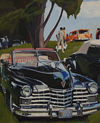 Old Cars Paintings - Garden of Earthly Delights by Deb Putnam