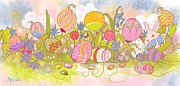 Green Beans Digital Art - Garden Of Easter by Renee Ciufo