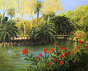 Picturesque Painting Posters - Garden of Eden Poster by Kiril Stanchev