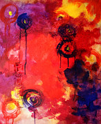 Abstract Composition Paintings - Garden of Good and Evil by Nancy Merkle