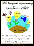 Garden Of Life Print by Bobbee Rickard