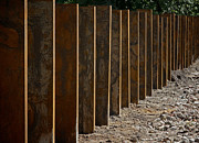 Fence Posts Photos - Garden Of Rust by Odd Jeppesen