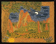 Mountain Tapestries - Textiles Prints - Garden Of The Gods Print by Jan Schlieper