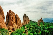 Monolith Digital Art - Garden of the Gods by Michelle Calkins