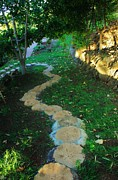 Stepping Stones Prints - Garden Path Print by Craig Wood