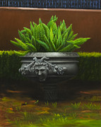 Pewter Paintings - Garden Satyr by Gary  Hernandez