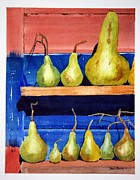 Gourds Paintings - Garden Shed Gourds by David Massey