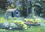 Shed Paintings - Garden Shed by Susan Hanna of SEH Studios