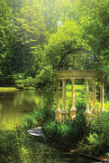 Hazy Photo Prints - Garden - The Temple of Love Print by Mike Savad
