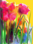 Maureen Kealy - Garden Tulips in Full...