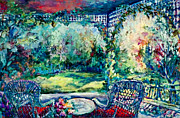 Verandah Paintings - Garden Verandah by Jean Groberg