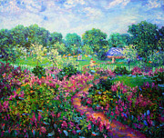 Landscapes Painting Originals - Garden Wedding by Glenna McRae