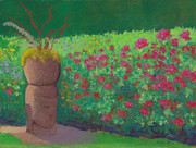 Garden Pastels Originals - Garden Welcoming by Anne Katzeff
