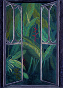 Garden Pastels Originals - Garden Window by Patricia Beebe