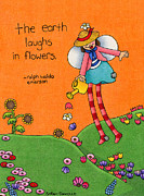 Children Day Drawings - Gardener Angel by Sarah Batalka