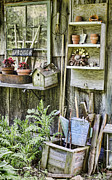 Potting Shed Prints - Gardener Corner Print by Heather Applegate