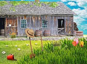Shed Digital Art - Gardening by Liane Wright