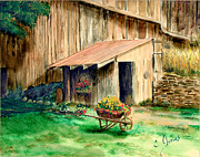 Shed Painting Framed Prints - Gardening Shed Framed Print by C Keith Jones