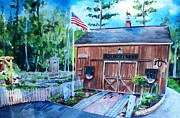 Shed Painting Prints - Gardening Shed Print by Scott Nelson