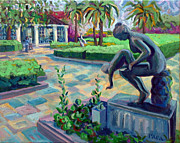 Mother Of Four Framed Prints - Gardens at the Society of The Four Arts Framed Print by Ralph Papa