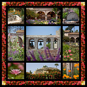 Rose Tower Posters - Gardens of Mission San Juan Capistrano Poster by Art Blocks
