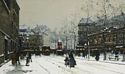 Gare Du Nord Paris Print by Eugene Galien-Laloue