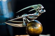 Brass Photos - Gargoyle Hood Ornament by Jill Reger